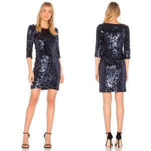 Modcloth BB Dakota Blue Sequin Sheath Dress NEW!